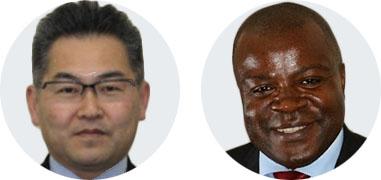 Dr Shoji Miyagawa, AMED & Prof. Charles Shey Wiysonge, SAMRC